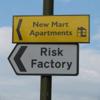 Risk Factory street sign